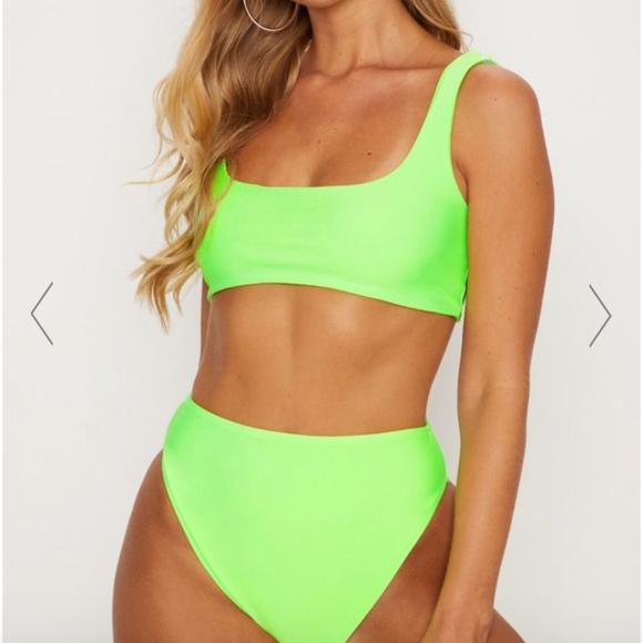 b1c5fbbab9e Lime Mix   Match high waist bikini